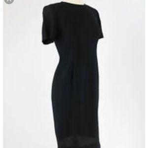 Leslie Fay classic black sheath dress NWOT